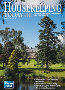 Housekeeping Today front cover March April edition for Hotel housekeepers in hospitality