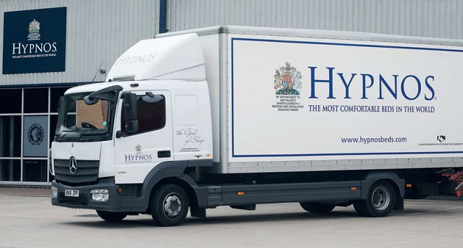 Hypnos Contract Beds Hotel Housekeeping Lorry