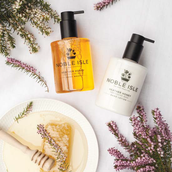 Noble Isle Heather and Honey collection hotel amenities