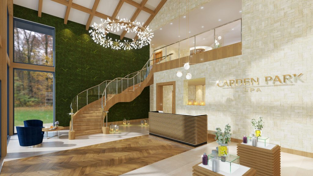 carden park spa staircase reception