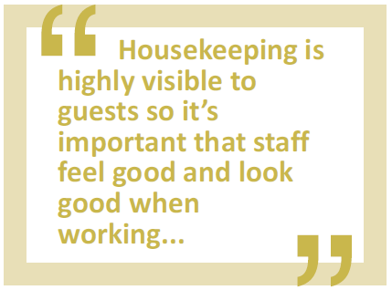 housekeeping is highly visible to guests quote
