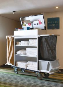mercura cleaning trolley for hotels and hospitality
