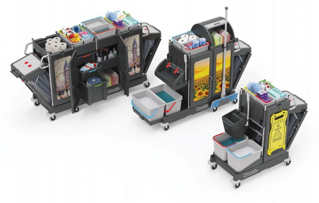 numatic cleaning trolley pro-matic hospitality