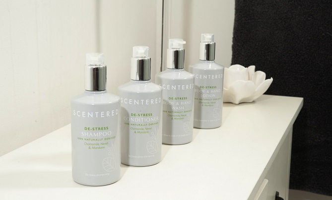 Scentered Amenities Line Shampoo, Conditioner, Hand And Body Wash