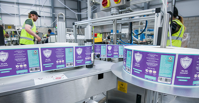 Sanitiser Production Line Housekeeping News